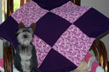 Purple Puppy Quilt